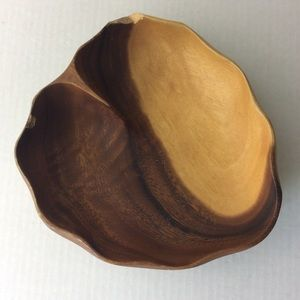 Philippine Monkey Pod Wood Trinket Bowl FLAWED